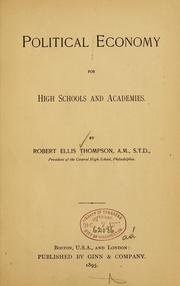 Cover of: Politics economy for high schools and academies
