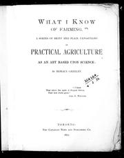 Cover of: What I know of farming