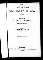 Cover of: The Canadian parliamentary companion
