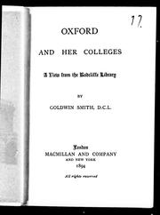 Cover of: Oxford and her colleges