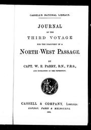 Cover of: Journal of the third voyage for the discovery of a North-West Passage