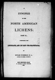 Cover of: A synopsis of North American lichens