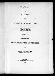 Cover of: A synopsis of the North American lichens