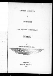 Cover of: Genera lichenum