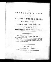 Cover of: A comparative view of the Russian discoveries with those made by Captains Cook and Clerke