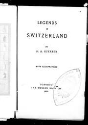 Cover of: Legends of Switzerland