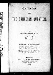 Cover of: Canada and the Canadian question