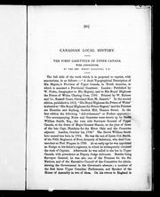 Cover of: Canadian local history