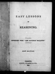 Cover of: Easy lessons on reasoning