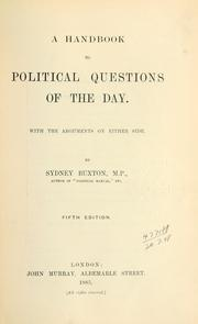 Cover of: A handbook to political questions of the day