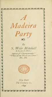 Cover of: A madeira party