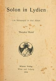 Cover of: Solon in Lydien