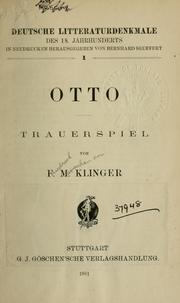 Cover of: Otto, Trauerspiel