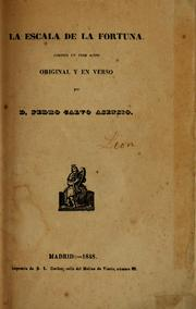 Cover of: La escala de la fortuna
