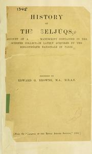 Cover of: History of the Seljúqs