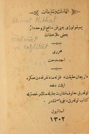 Cover of: Ilhamat ve taglitat