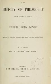Cover of: The history of philosophy fom Thales to Comte