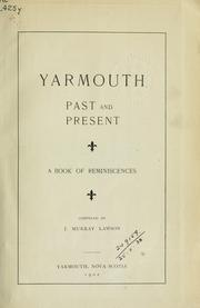Cover of: Yarmouth, past and present