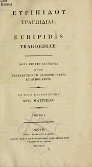 Cover of: Tragoediae