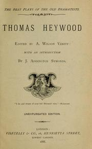 Cover of: Thomas Heywood