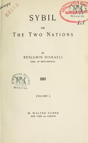 Cover of: Sybil or the two nations