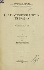 Cover of: Phytogeography of Nebraska