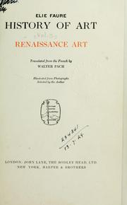 Cover of: History of art