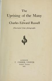 Cover of: The uprising of the many