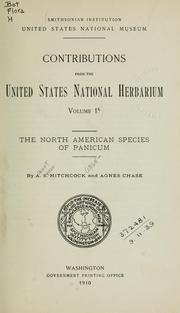Cover of: The North American species of Panicum