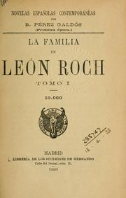 Cover of: La familia de León Roch