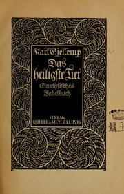 Cover of: Das heiligste Tier