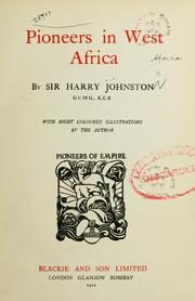 Cover of: Pioneers in West Africa