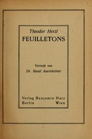 Cover of: Feuilletons