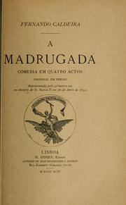 Cover of: A madrugada