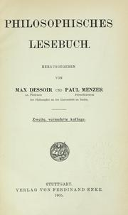 Cover of: Philosophisches Lesebuch