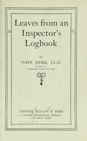 Cover of: Leaves from an inspector's logbook
