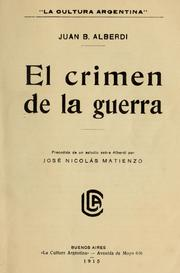 Cover of: El crimen de la guerra