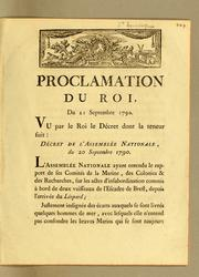 Cover of: Proclamation