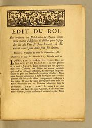 Cover of: Édit