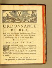 Cover of: Ordonnance