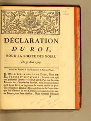Cover of: Déclaration