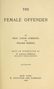 Cover of: The female offender