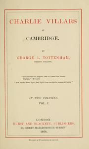 Cover of: Charlie Villars at Cambridge