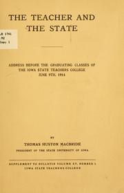 Cover of: The teacher and the state