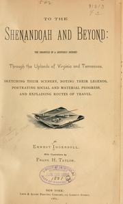 Cover of: To the Shenandoah and beyond
