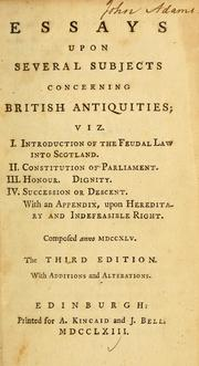Cover of: Essays upon several subjects concerning British antiquities