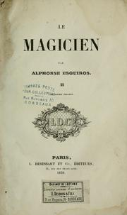 Cover of: Le magicien