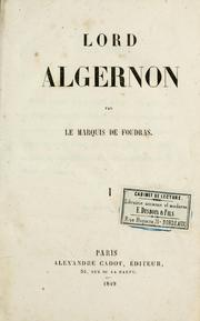 Cover of: Lord Algernon