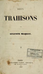 Cover of: Deux trahisons