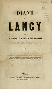 Cover of: Diane de Lancy